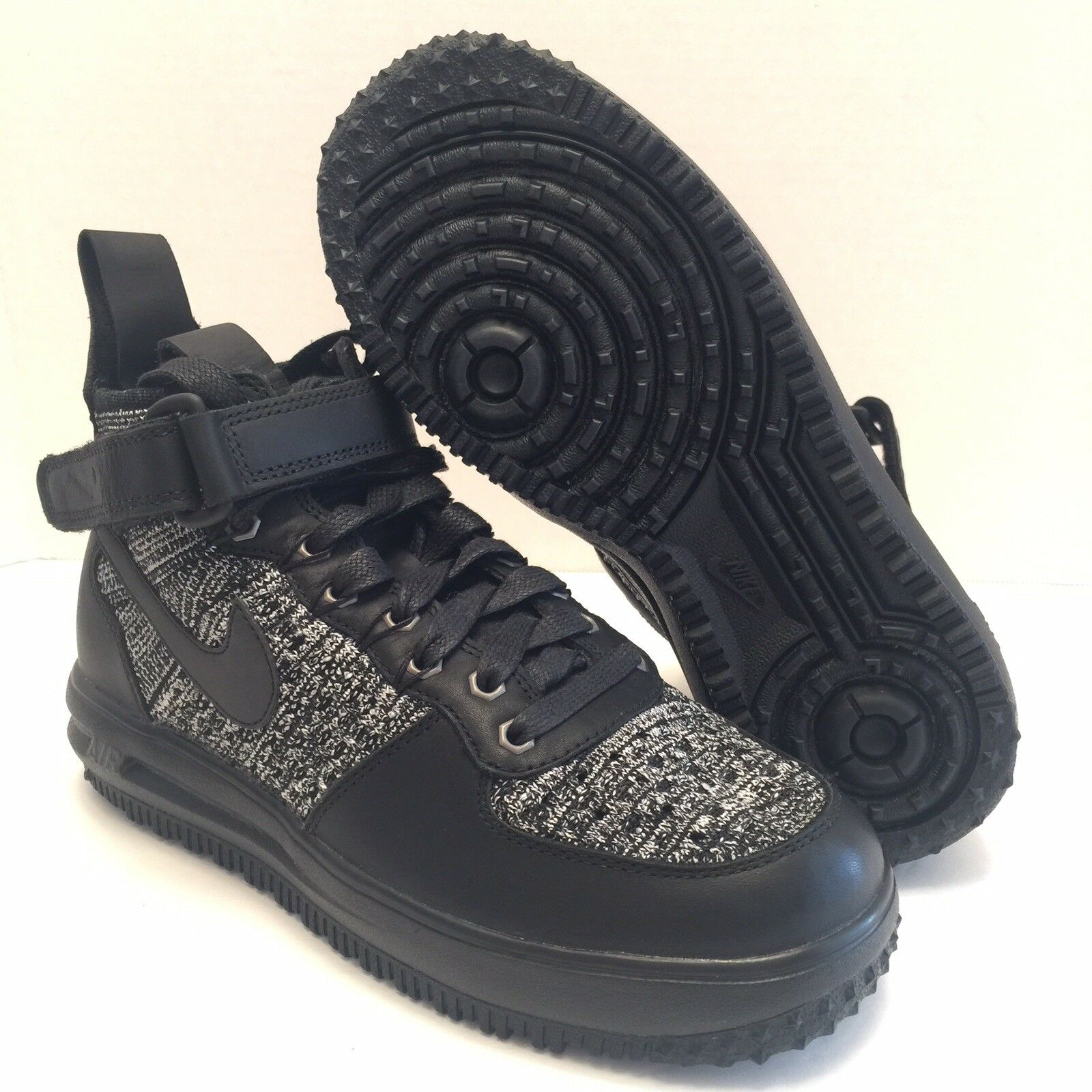 68b387cb24 Nike LF1 Air Lunar Flyknit 860558-001 Black White Mens WorkBoots size 6  Force nuggkj3580-new shoes