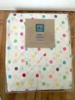 Pottery Barn Teen Multi Dottie Colorful Polka Dot Xl Twin / Daybed Bedskirt