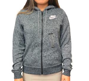 Black Heather Nike Womens Sportswear Full Zip Hoodie