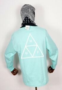 Huf-Worldwide-Skate-Shoes-Longsleeve-T-Shirt-Multi-Triple-Triangle-Mint-in-M