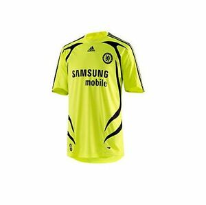quality design 004bf 4727a Details about adidas Chelsea FC 2007-2008 Official Away Soccer Jersey Brand  New Neon Yellow