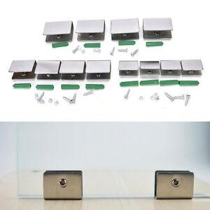 4pcs-6-12mm-Stainless-Steel-Square-Clamp-Holder-Clip-For-Glass-Shelf-Handrail-FT