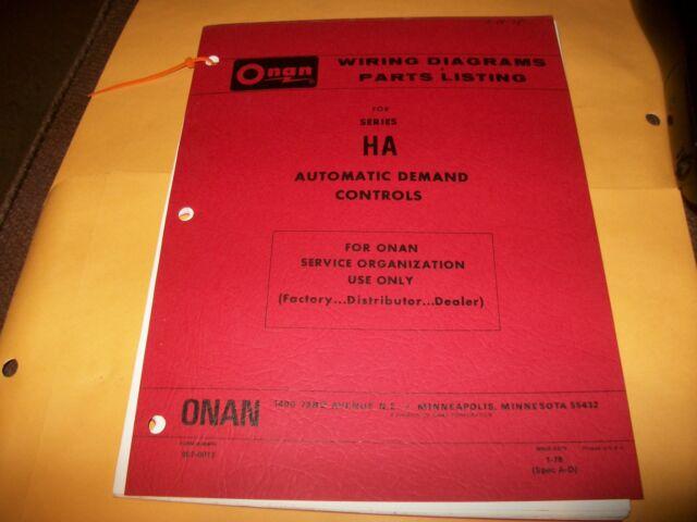 Onan Manual Onan Ha Series Wiring Diagrams Parts Listing