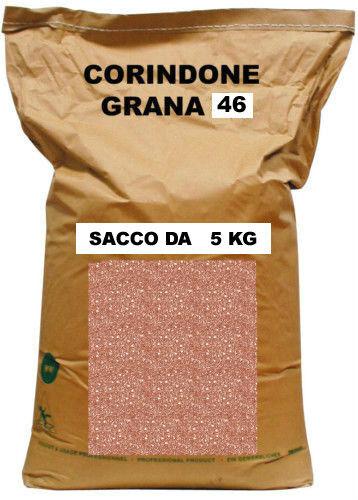 SACCO DA 5 KG CORINDONE SABBIATRICE GRANIGLIA GRANA 46 PER SABBIATURA
