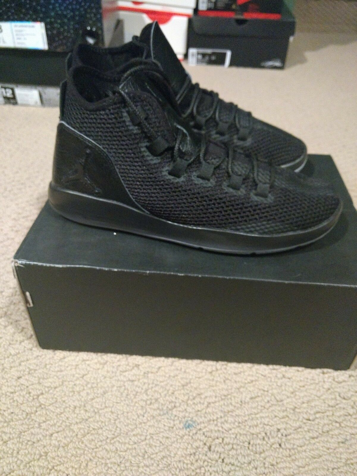 Jordan revelan Premium Negro Para Hombre Zapato Zapatilla 834229-010 Prem