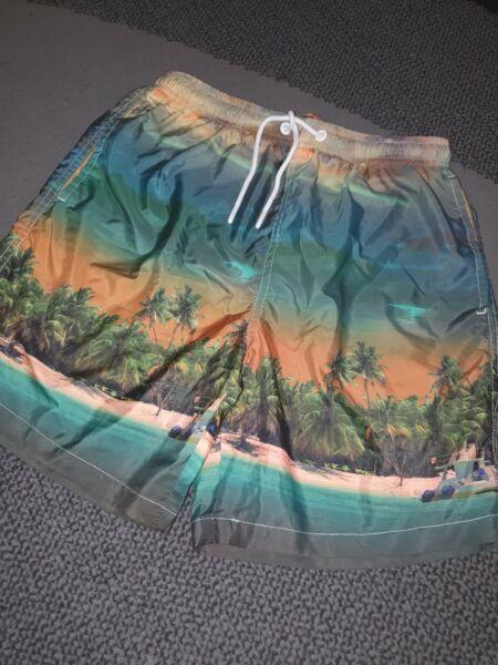 100% Vero Da Uomo Taglia Small Nuoto Pantaloncini