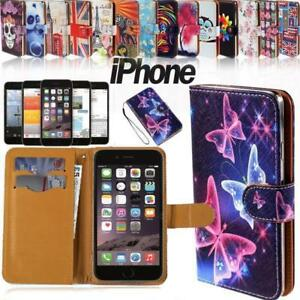 Flip-Wallet-Card-Stand-Leather-Case-Cover-For-Apple-iphone-3-4-5-6-7-ipod-4-5-6