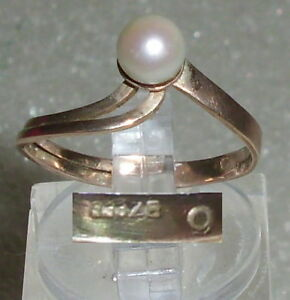 Gr da3782 Hearty Ring Aus 333er Gold Mit Perle 52 Ø 16,6 Mm In Short Supply