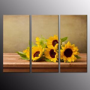 Image Is Loading Sunflower Poster Canvas Wall Art Print Home Decor
