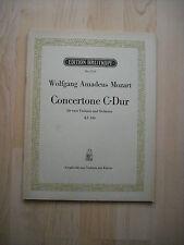 Notas. Mozart. Concertone C-Dur KV 190 para 2 violines y piano