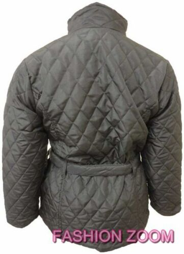 WOMEN PLUS SIZE LADIES JACKET LONG SLEEVE QUILTED PADDED WARM WINTER COAT 18-26