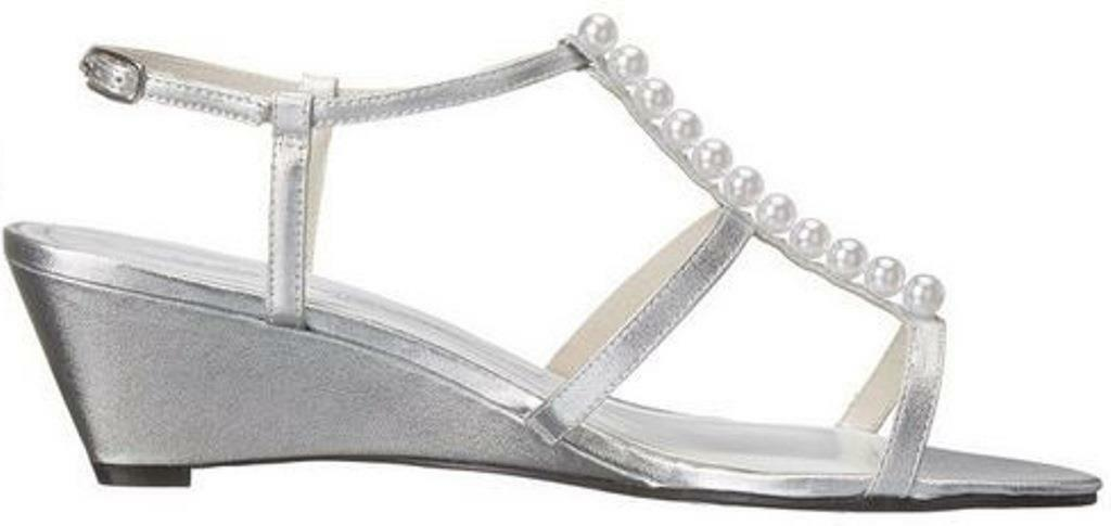 Women's shoes Caparros SULLIVAN Dress Sandals Heels PROM WEDDING SILVER Glimmer