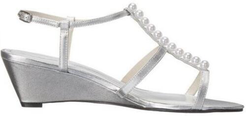 Women/'s Shoes Caparros SULLIVAN Dress Sandals Heels PROM WEDDING SILVER Glimmer