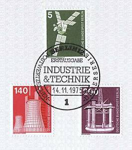 Berlin-1975-industry-and-technology-NR-494-504-506-with-first-day-Special-Postmark-1510