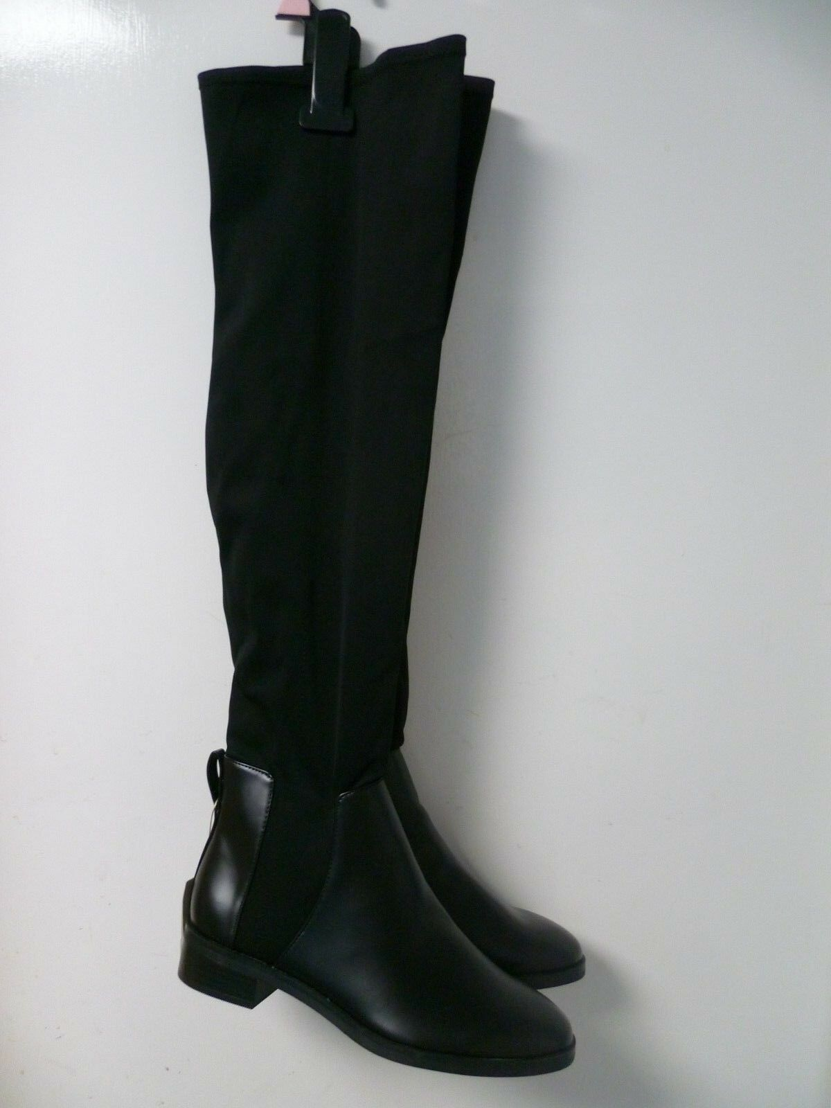 d2a259672c6 Stradivarius Knee Boots Black UK 4 EU 37 LN182 AB 03 Over Neoprene ...