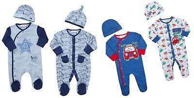 Rigoroso Babytown Baby Boys Car Design Pigiama & Cappello Set-