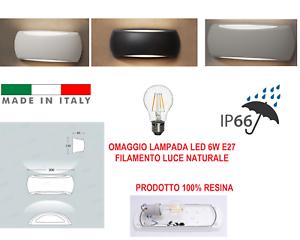 APPLIQUE PLAFONIERA LAMPADA ESTERNA DA PARETE CON DOPPIA DIFFUSORE UP/&DOWN E27