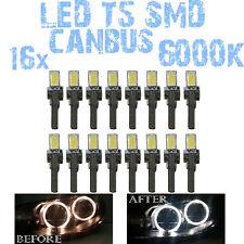 N° 16 Gloeilampen LED T5 Wit 6000K SMD 5630 Koplampen Angel Eyes DEPO FK 12v 1C7