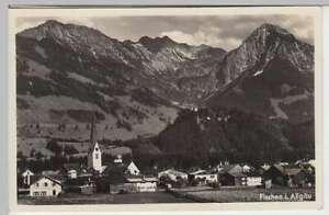 36248-Foto-AK-Fischen-i-Allgaeu-Totale-Bahnpost-1937