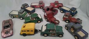 Vintage-1969-1970-Tootsietoy-Lot-13-Vehicles-Jeep-039-s-Truck-039-s-Car-039-s-Semi-039-s