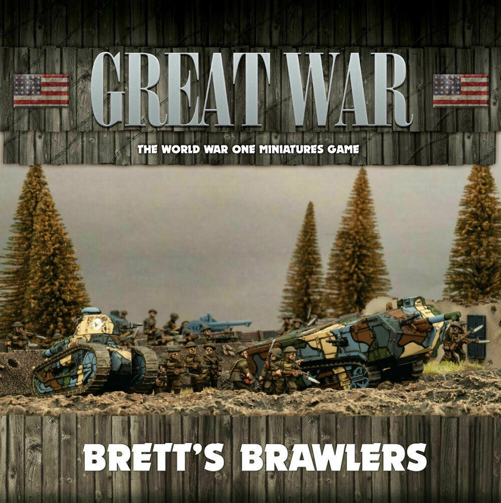 Llamas de la guerra de la Gran Guerra Ejército Americano Caja Brett's Brawlers fow gusab 02
