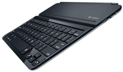 Black New Logitech Wireless Bluetooth Ultrathin Keyboard Cover i5 for iPad Air