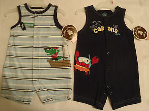a436a5786 CARTERS 0-3 Month Navy Cabana Cutie Crab or Striped Alligator Outfit ...