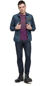 Replay-Camicia-di-Jeans-Denim-Uomo-Colletto-Classico-tg-L-20-OCCASIONE