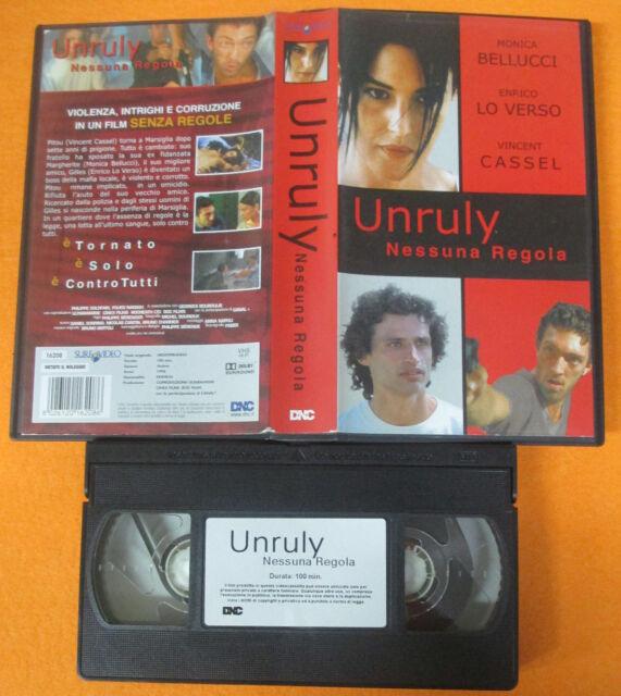 VHS film UNRULY NESSUNA REGOLA Monica Bellucci Enrico Vincent Cassel (F72)no dvd