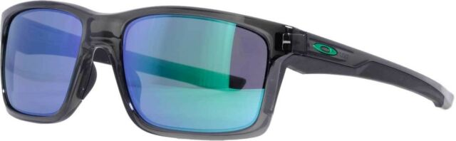 643cf1659f7 New Oakley OO9264-04 Mainlink Gray Smoke Frame   Jade Iridium Lenses