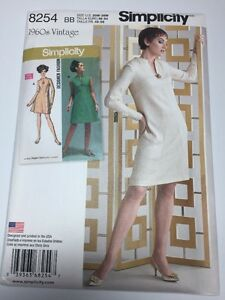 Simplicity Sewing Pattern 8254 Sizes 20-28 Vintage 1960's Dresses New