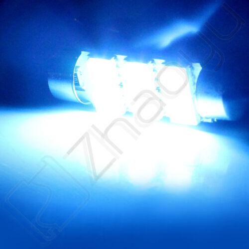 6x Ice Blue 42MM 5050 6SMD Festoon Dome Map Cargo Interior Car LED Light bulbs