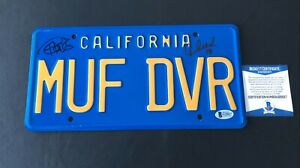 CHEECH-AND-CHONG-SIGNED-UP-IN-SMOKE-LICENSE-PLATE-AUTOGRAPH-BECKETT-BAS-COA