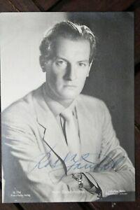 34715 Foto Ross Editore Autografo Ak Karl Schönböck Del 1939 Film Autografata