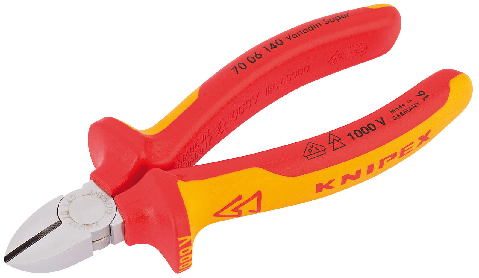 Knipex 140Mm Fully Insulated Diagonal Side Cutter Draper 81254