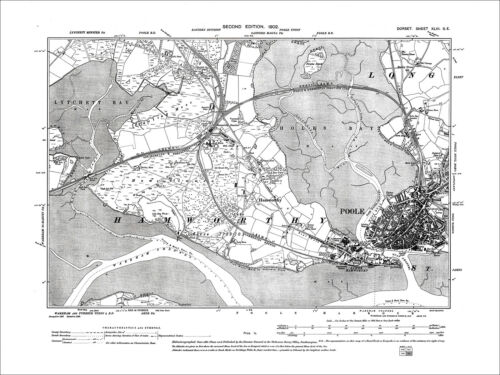43SE Hamworthy old map Dorset 1902 Poole West Quay