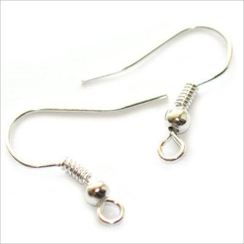 4 Paires Support Boucles d'oreilles en métal argenté 19mm