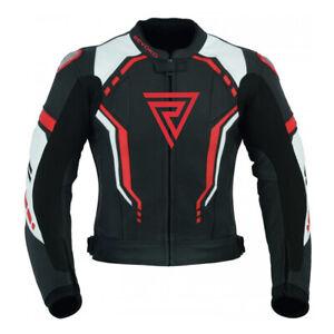 Brand New REVOKO Motorcycle Motorbike Racing Rider Leather Jacket - COWHIDE