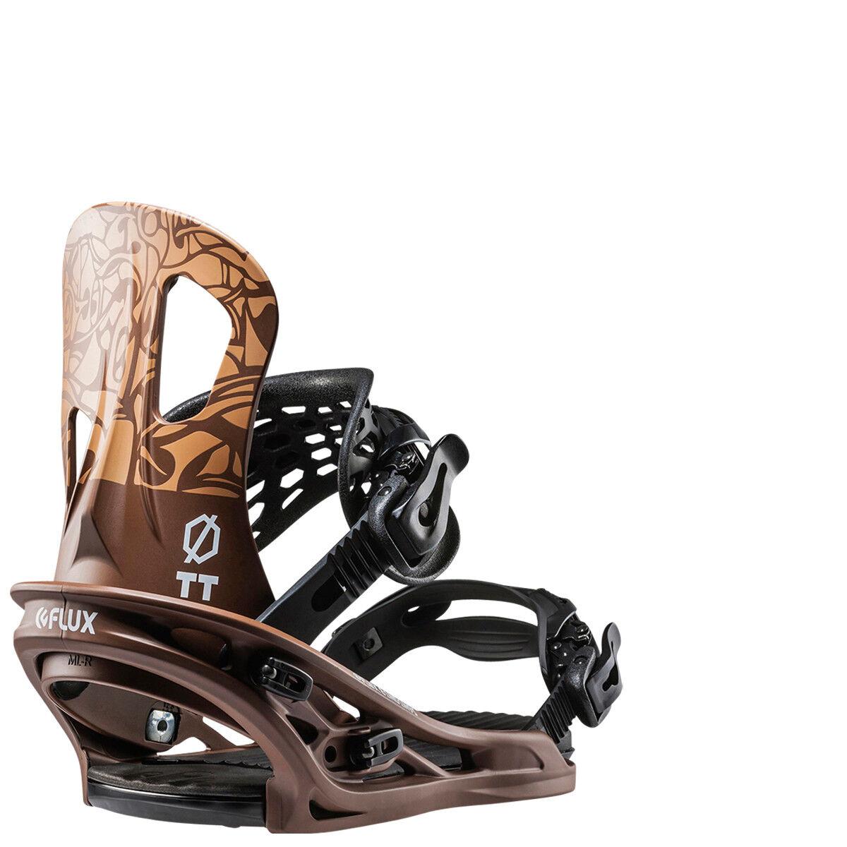 Snowboarding snowboard men bindings FLUX TT brown chocolate S-M-L