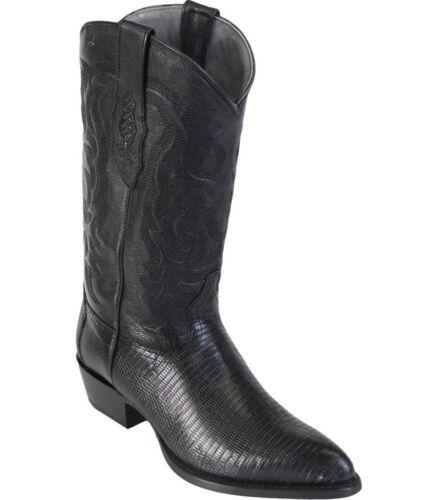 D LOS ALTOS MEN BLACK GENUINE LIZARD RING WESTERN COWBOY J-TOE BOOT 0907061