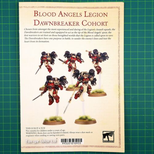 Blood Angels Dawnbreaker Cohort Bitz Bits Forge World the Horus Heresy