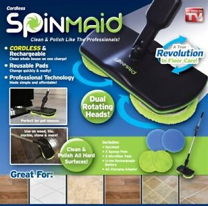 REPLACEMENT Scrubber Pads (Set of 4) for Spin Maid Floor Cleaner (Mop not Incl.)
