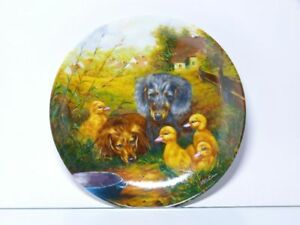 Vohenstrauss-Collection-Plate-Rendezvous-At-Water-Bowl-Dog-Ducks-Village