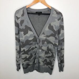 Lane Bryant Size 14/16 Gray Camouflage Cardigan Sweater
