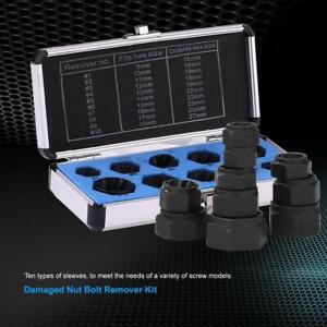 10pcs-Damaged-Nut-Bolt-Remover-Stud-Extractor-Set-Broken-Screw-Removal-Tool-Kit