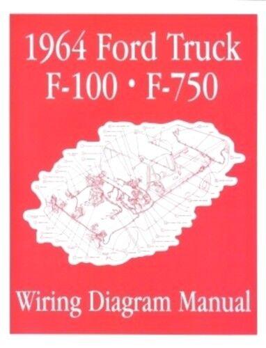 Ford 1964 F100 - F750 Truck Wiring Diagram Manual 64 for sale online | eBayeBay