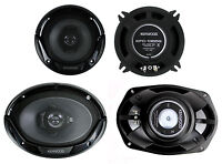 2) Kenwood Kfc-1365s 5.25 250 Watt 2-way + 2) 6x9 400 Watt 3-way Car Speakers