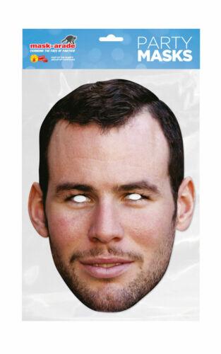 Mark Cavendish Face Party Mask Card A4 Fancy Dress Cyclist Ladies Men Kids Sport