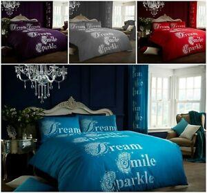 Luxuries-Modren-Sparkle-Impreso-Reversible-Funda-De-Edredon-Funda-de-almohada-Juego-de-cama-GC