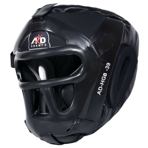 ARD CHAMPS™ Protector Guard Wrestling Helmet Head Gear Boxing MMA Rugby Black